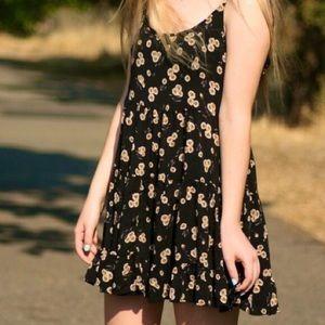 Brandy Melville black sunflower dress